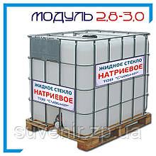 Жидкое стекло натриевое ГОСТ 13078-81: плотность 1,40—1,44, модуль 2,8—3,0
