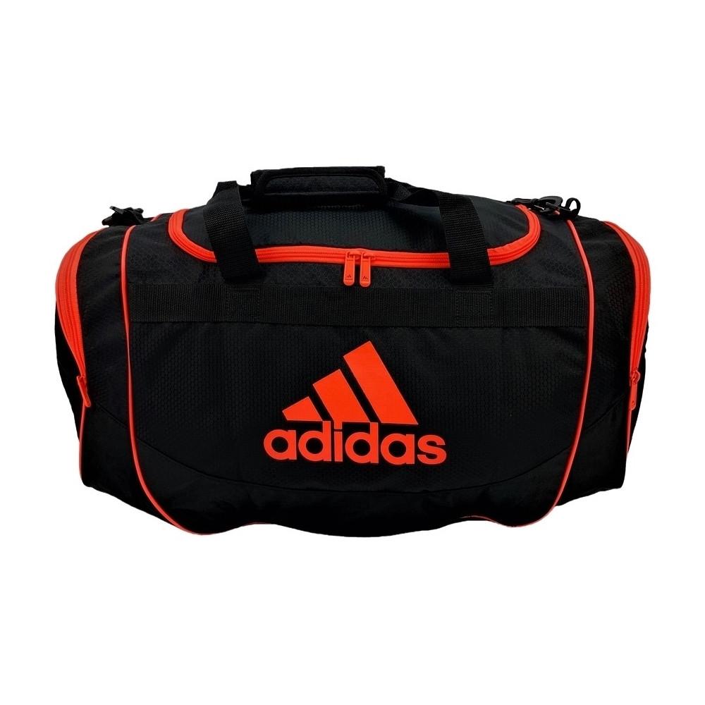 Спортивная сумка adidas Defender II Duffel medium чёрно-оранжевого цвета Оригинал