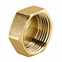Заглушка латунь діаметр 20 внутрішня різьба