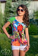 """Женская футболка """"Тропикана"""""""
