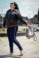 Молодёжные джинсы с высокой посадкой батал с 48 по 98 размер