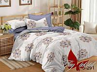 Двуспальный комплект постельного белья с компаньоном сатин люкс S291