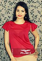 Легкая  блузка с рюшами