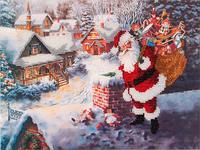 Набор для вышивания бисером FLF-085 Дед Мороз 20*30 Волшебная страна качественный , фото 1