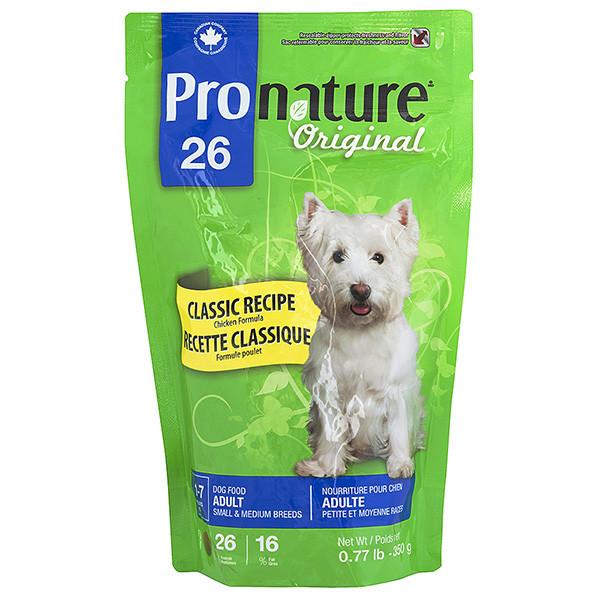 Pronature Original Adult Small & Medium пронатюр ориджинал курица корм для собак малых и средних пород 0.35