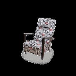 Кресло мягкое Мюнхен принт текстиль