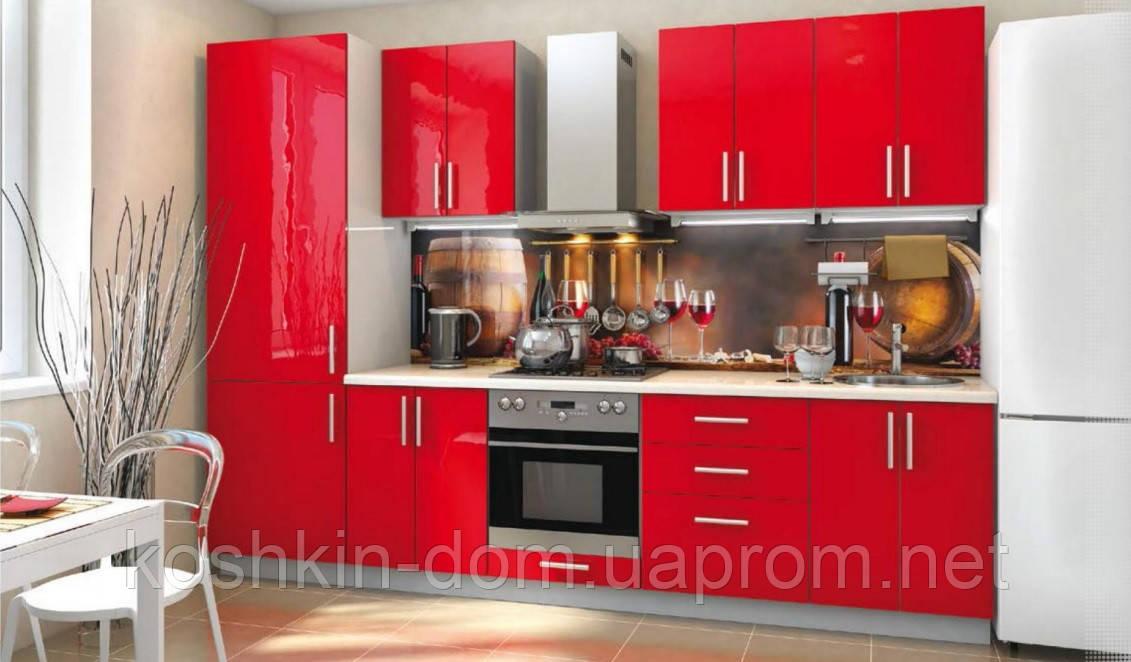 Кухня модульная прямая 3000 мм, MDF пленочный