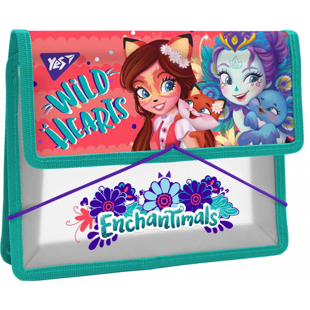 """Папка для тетрадей пластиковая на резинке В5 """"Enchantimals"""""""