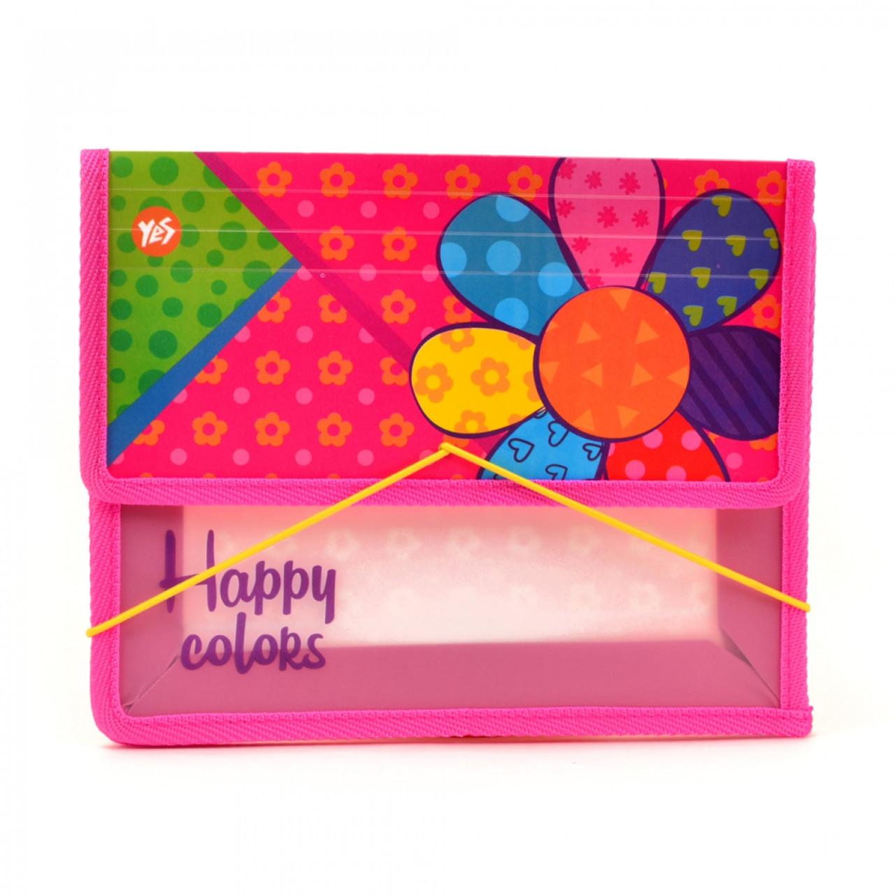 """Папка для тетрадей пластиковая на резинке В5 """"Happy colors"""""""