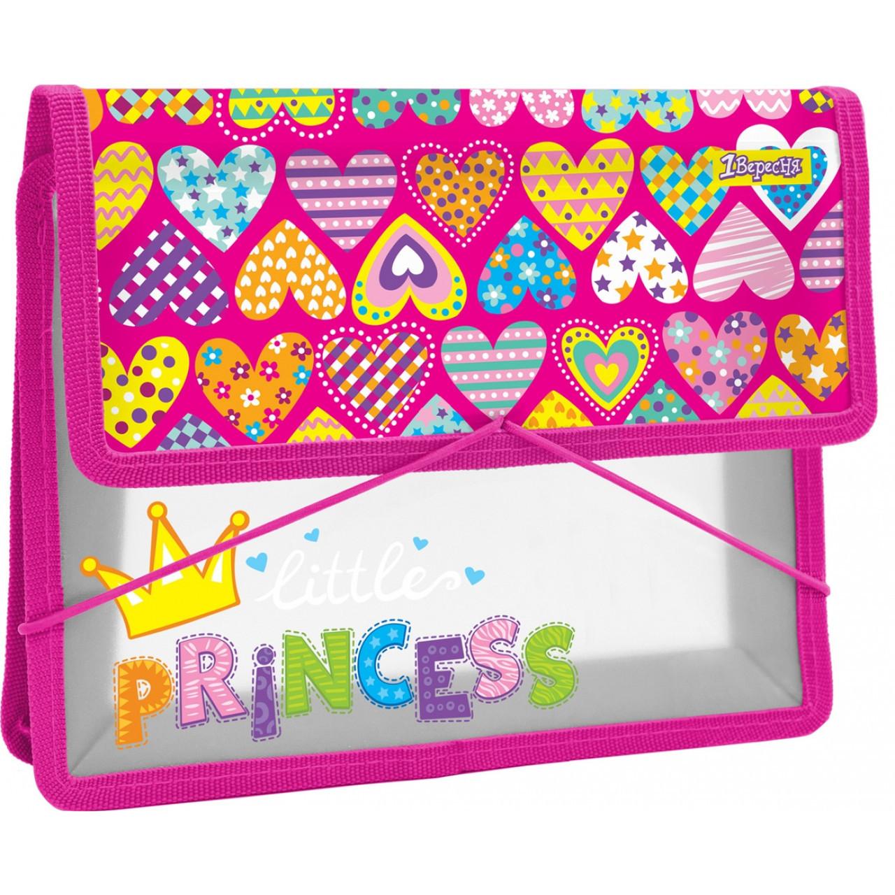 """Папка для тетрадей пластиковая на резинке В5 """"Little Princess"""""""