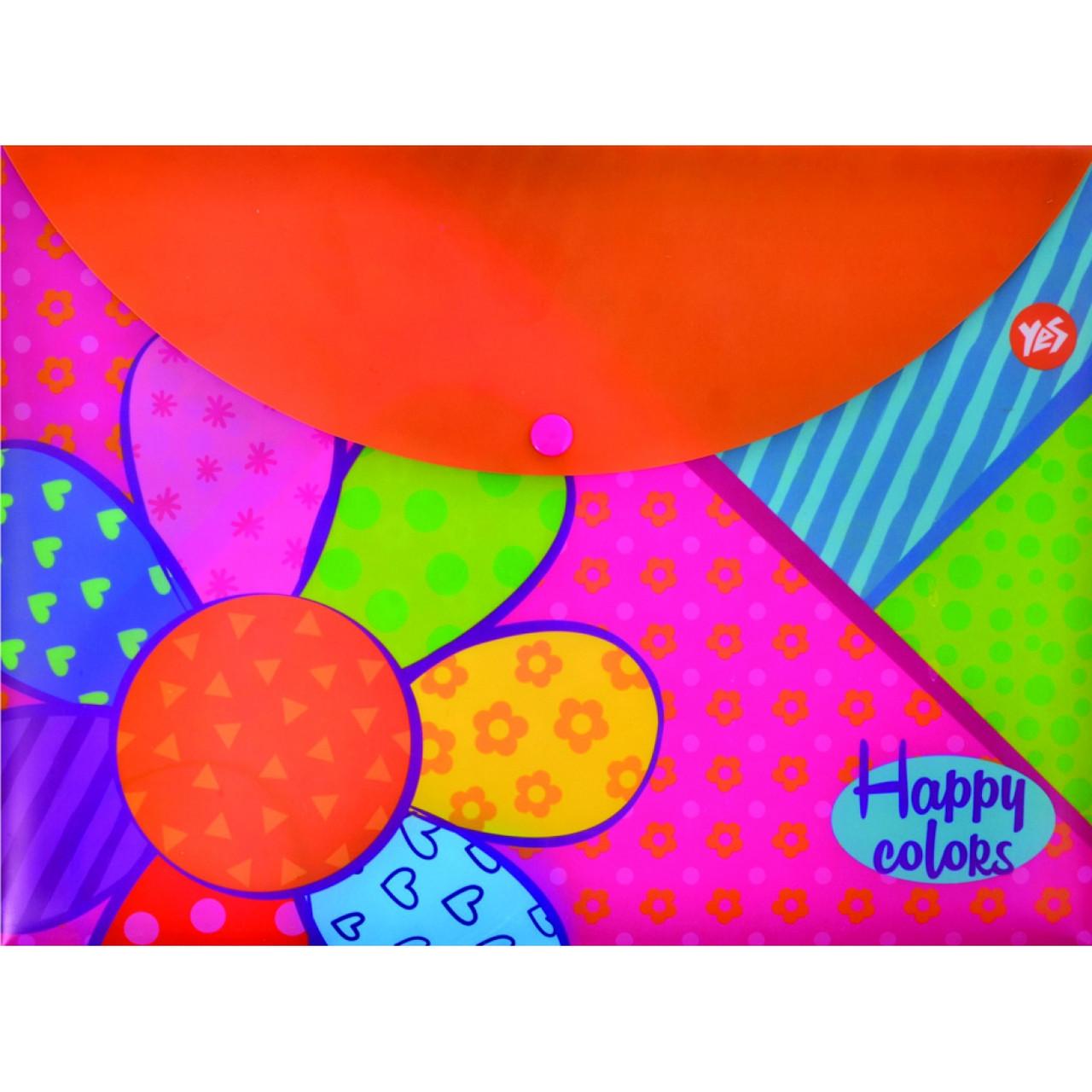 "Папка-конверт на кнопке А4 ""Happy colors"""