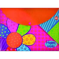"Папка-конверт на кнопке А4 ""Happy colors"", фото 1"