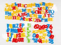 Магнитные буквы (рус/укр и англ алфавит) цифры математические знаки для магнитных мольбертов и досок