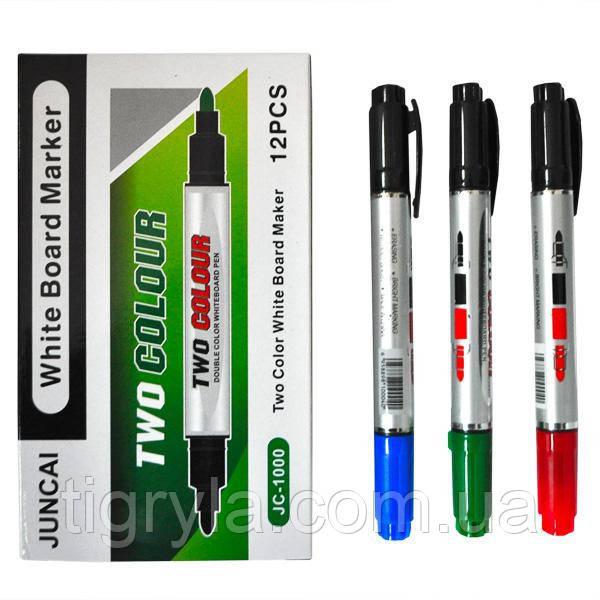 Маркер двухцветный двухсторонний для мольберта и досок для рисования Маркер для флипчарта маркер сухостираемый