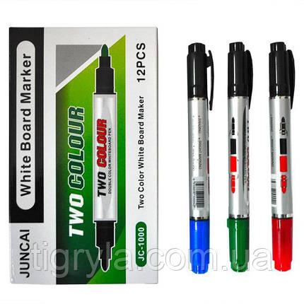 Маркер двухцветный двухсторонний для мольберта и досок для рисования Маркер для флипчарта маркер сухостираемый, фото 2