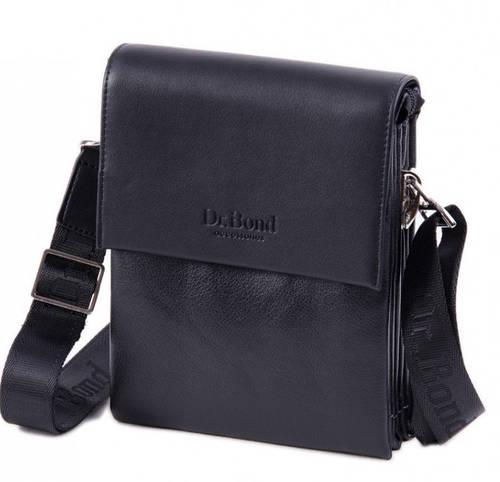 Стильная мужская сумка-планшет из искусственной кожи dr.Bond 8818 black черный