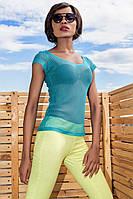 """Женская модная летняя футболка-сетка """"Siesta"""", фото 1"""