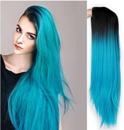 Длинные парики - 65см, бирюзовые волнистые волосы, косплей, анимэ, фото 2