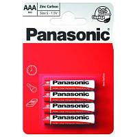 Батарейка PANASONIC AAA R03 RED ZINK * 4 (R03REL/4BP)