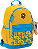 """Рюкзак подростковый X066 """"Oxford"""" жёлто-голубой, 29*19*43см"""