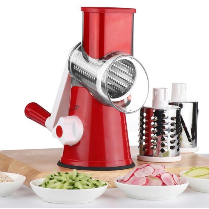 Ручная овощерезка-терка с насадками Kitchen Master 5140 Красная