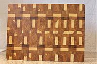 Торцевая разделочная доска из ценных и экзотических твёрдых пород дерева