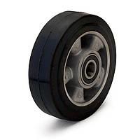 Колесо без кронштейна, диаметр 250 мм, нагрузка 550 кг, Фрегат 20 250 ШФ (Резина эластичная черная /  алюминий (профи серия))