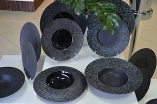 Тарелки черный фарфор