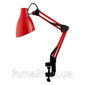 Лампа Lilly Beauty для настольного освещения, красная, (крепление: струбцина)