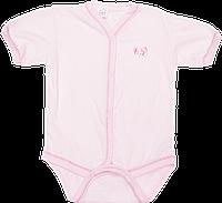 Детский боди-футболка в дырочки, кнопки посередине и внизу, хлопок (мультирипп), ТМ МС, р. 74, Украина