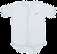Детский боди-футболка в дырочки, кнопки посередине и внизу, хлопок (мультирипп), ТМ МС, р. 68, 74, Украина