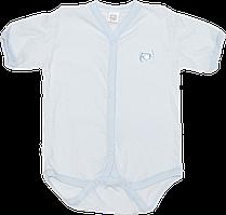 Детский боди-футболка в дырочки р. 74, кнопки посередине и внизу, хлопок (мультирипп), ТМ МС, Украина