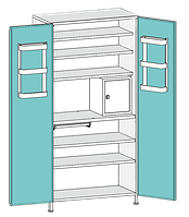Шкаф медицинский двухстворчатый ШД-3