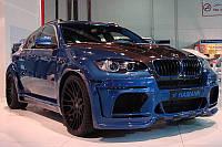 Обвес BMW X6 E71 в X6M Hamann Wide-body Dual exhaut