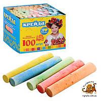 Цветные мелки для рисования 100шт, мел для доски
