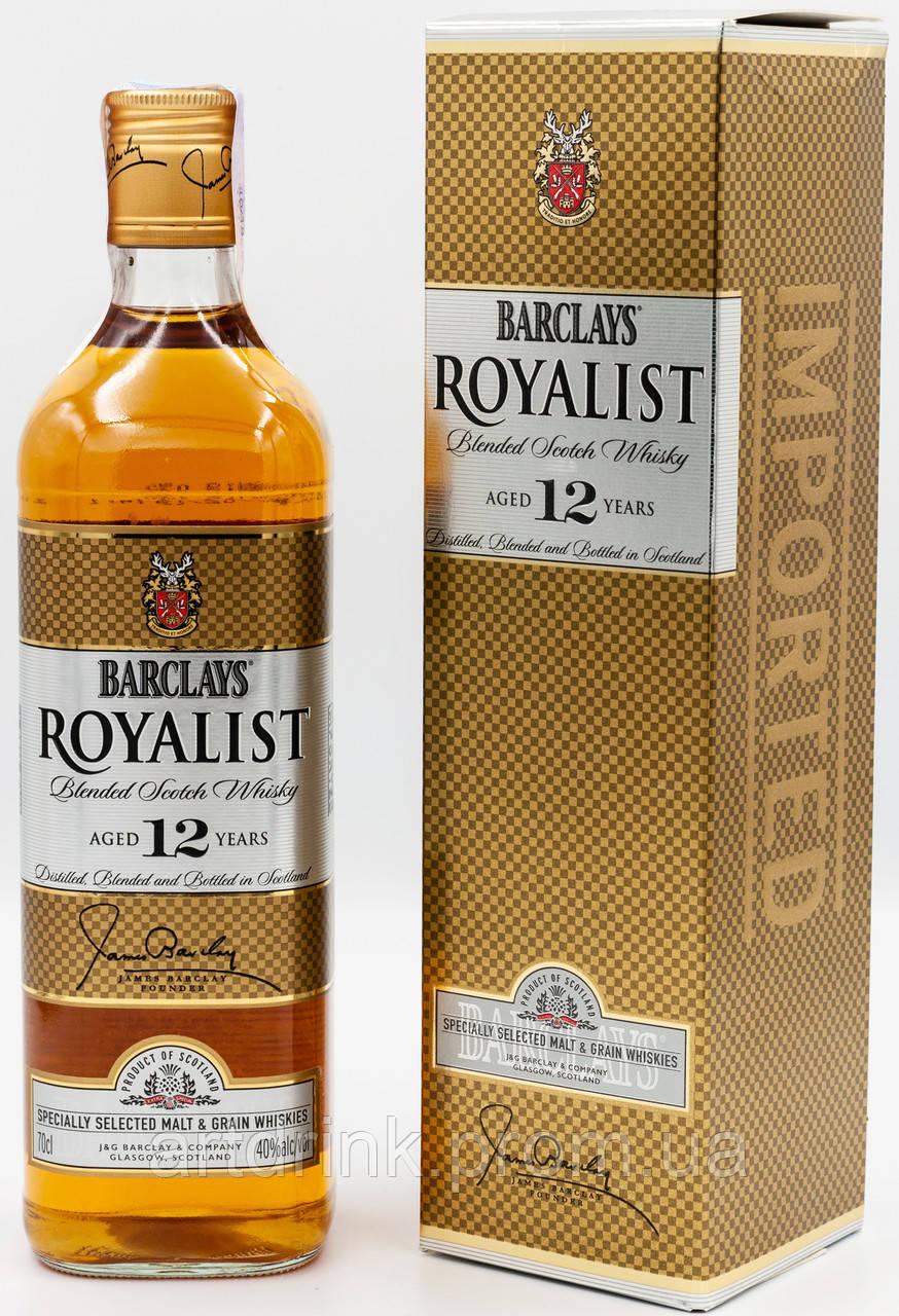 Виски Barclays Royalist 12 YO Whiskey 40% 0.7L