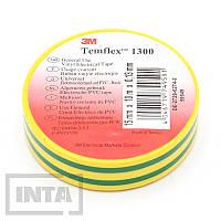 Изолента 3M™ Temflex™ 1300, желто-зеленая
