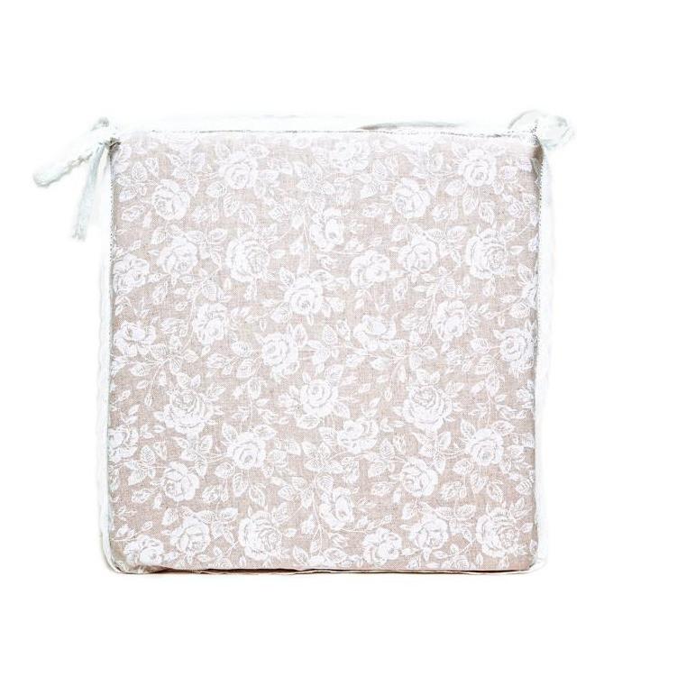 Подушечка на стул Прованс White rose