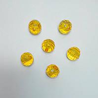 Бусина шар граненый желтый 18 мм