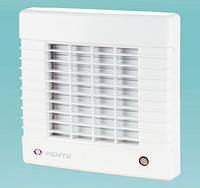 Бытовой вентилятор с авто-жалюзи Вентс 100 МАВ (оборудован выключателем)
