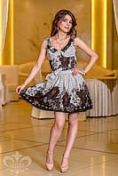 """Летнее женское платье """"Лили"""" (шоколад), фото 1"""