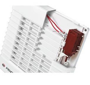 Бытовой вентилятор с авто-жалюзи Вентс 100 МАТ (оборудован таймером), фото 2