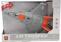 """Инерционный самолёт истребитель """"Air Trooper"""", звук, свет (оранжевый) WY770A"""
