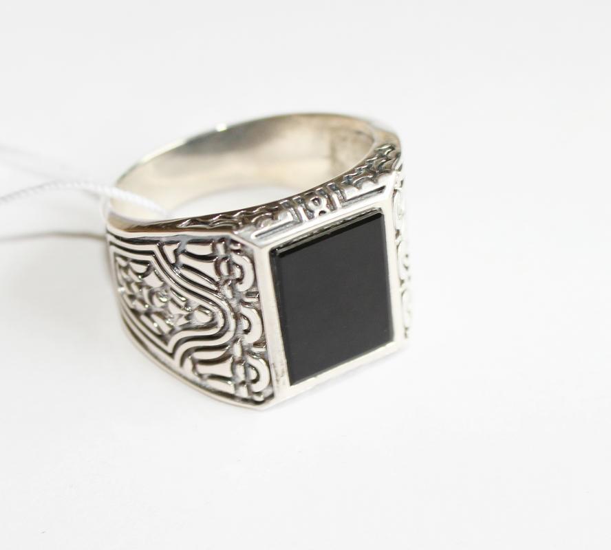 Мужская серебряная печатка Блейд