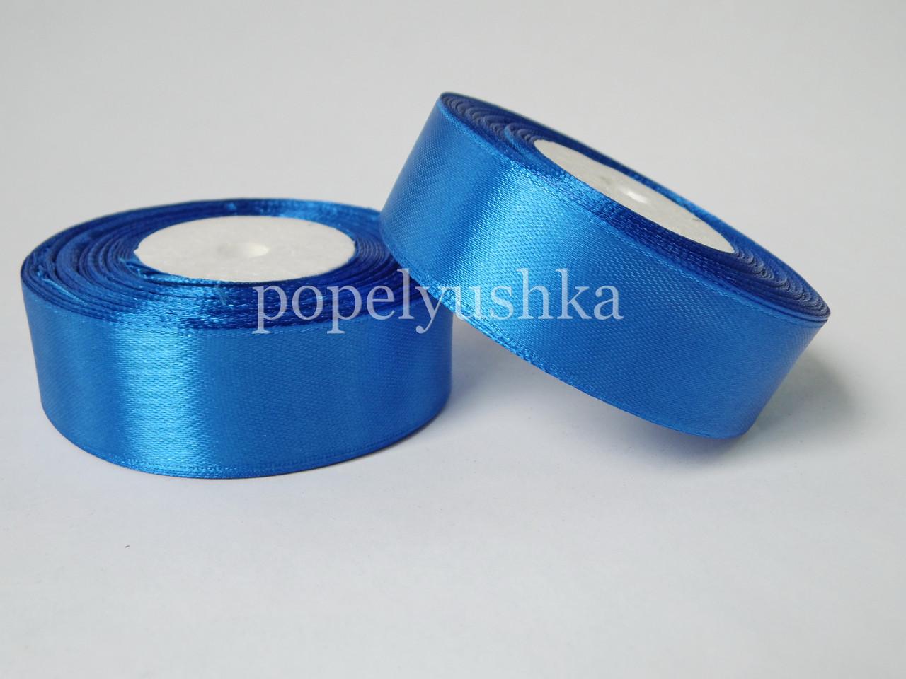 Стрічка атласна 2,5см синя