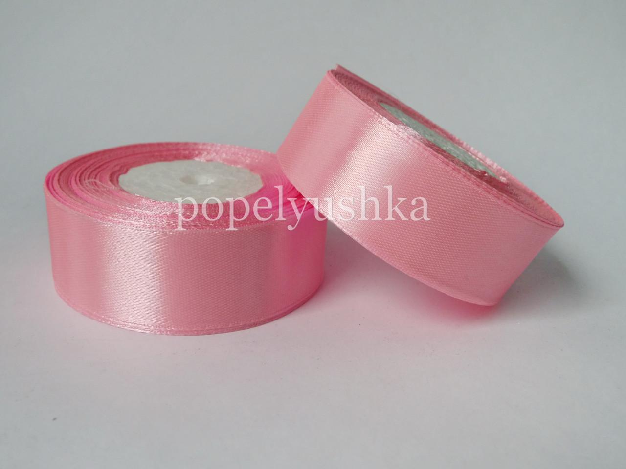 Стрічка атласна 2,5 см світло-рожева