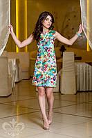 """Летнее женское платье с принтом """"Розелла"""" №2 (цветы), фото 1"""