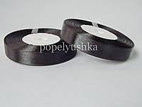 Стрічка атласна 1,2 см чорна