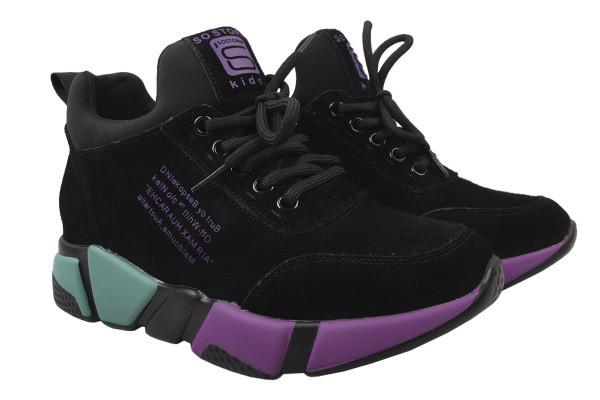 Туфли комфорт Li Fexpert натуральная замша, цвет черный