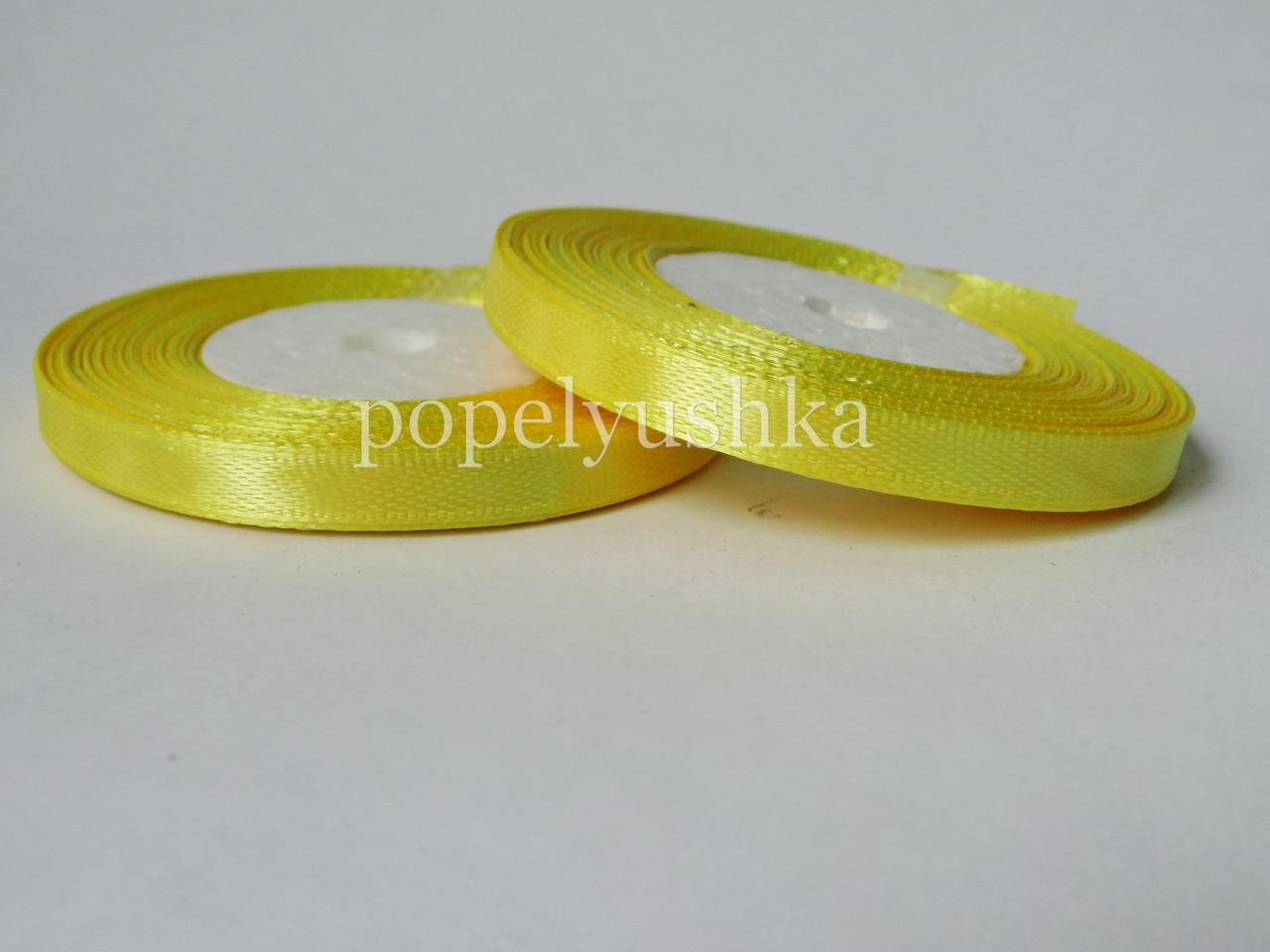 Стрічка атласна 0,5см жовта